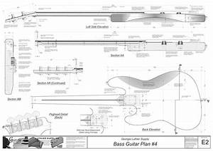 Jazz Bass Guitar Plans Electric Blueprints Cad