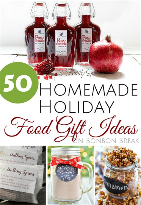 50 food gift ideas bonbon - Homemade Christmas Food Gifts