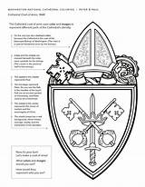 Cathedral Coloring Peter Paul Saint Arms Coat Imagery Represent Uses Church Official Week sketch template