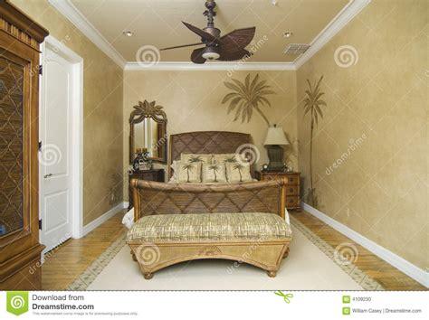 chambre en osier chambre à coucher en osier tropicale photo stock image