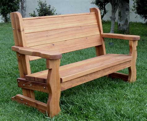 Benches : Rustic Wood Bench With Back For Garden Seating