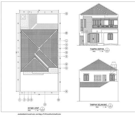 gambar denah rumah minimalis  lantai simomot