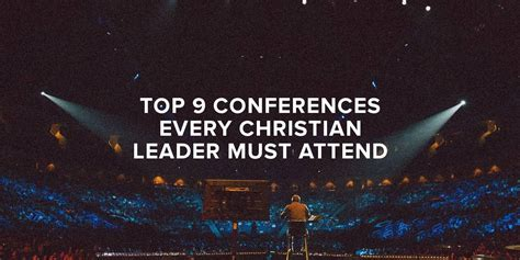 top  conferences  christian leader  attend