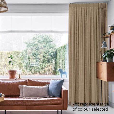 Living Room With Tv As Focus by Curtains Australian Made Dover White
