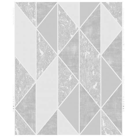 graham brown milan silver grey geometric wallpaper