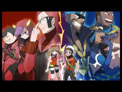 pokemon oras  team magmaaqua leader post release