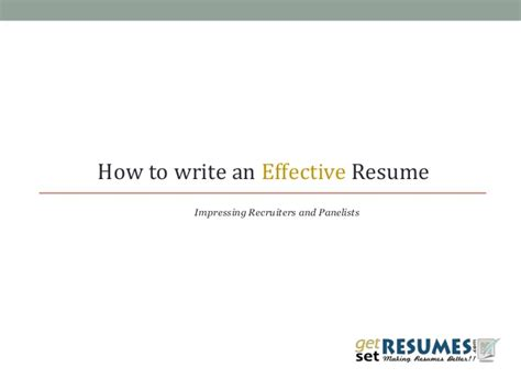 How To Write An Effective Resume by How To Write A Cracker Resume Cv For Your Next