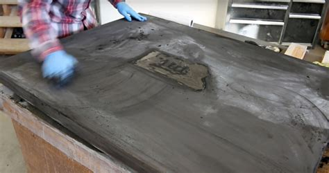 how to fill holes in concrete countertops how to make a concrete table