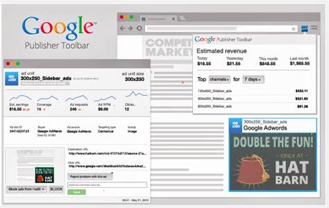 google publisher toolbar  adsense users   update