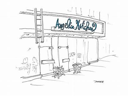 Drawing York Restaurants Vanishing Kitchen