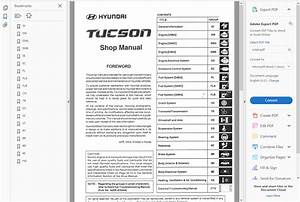 Factory Workshop Service Repair Manual Hyundai Tucson