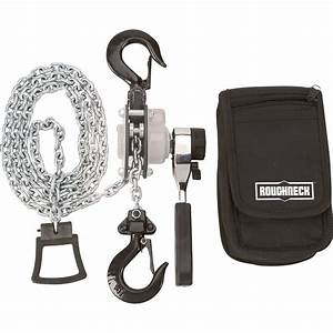 Roughneck Manual Lever Chain Hoist  U2014 1  4