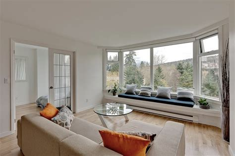 window shades lowes Living Room Modern with bay window