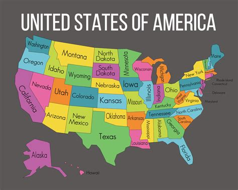 unied states map  travel information