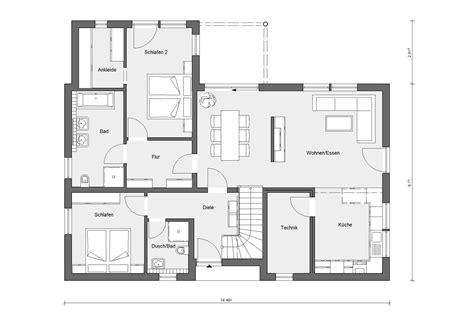 Einfamilienhaus Modern Grundriss by Grundriss Haus Modern Grundriss Einfamilienhaus Modern