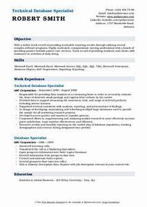 Database Specialist Resume Samples