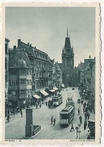 Markt De Freiburg Breisgau : ak freiburg breisgau adolf hitler strasse stra enbahn ansichtskarte markt ~ Orissabook.com Haus und Dekorationen