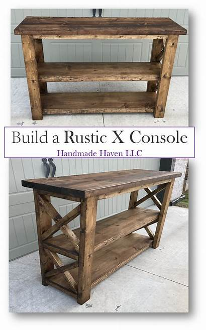 Console Table Tables Rustic Furniture Diy Plans