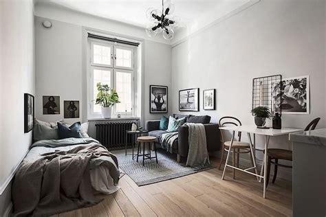 Tiny Scandinavian Studio Loft by Scandinavian Studio Apartment Apartment Decor In 2019
