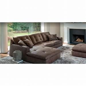 canape italien avec chaise longue cuir concord 3 places With tapis de gym avec canapé ancien cuir