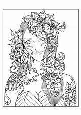 Coloring Pages Adults Fall Fantasy sketch template