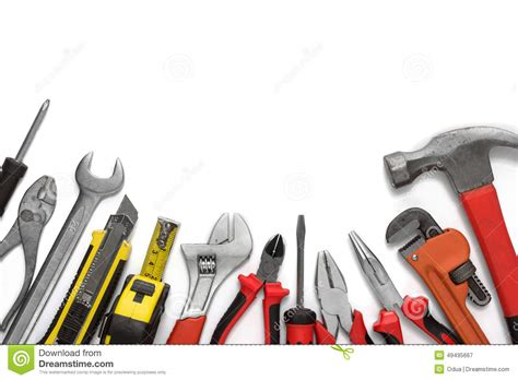 tools background many tools on white background stock image image of