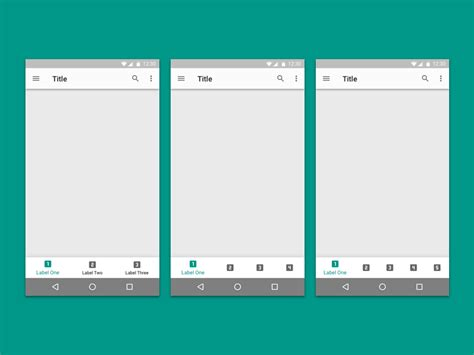 android navigation android bottom navigation sketch freebie free