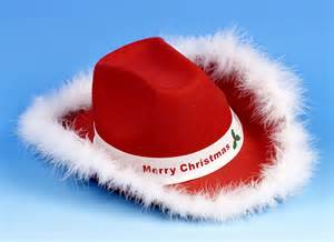 christmas cowboy hat partyworld