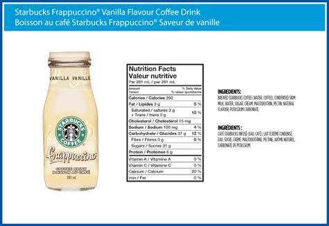 starbucks nutrition