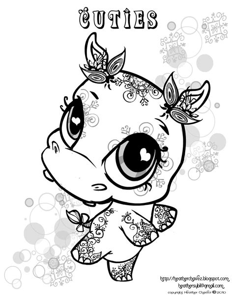 Quirky Artist Loft: 'Cuties' Free Animal Coloring Pages
