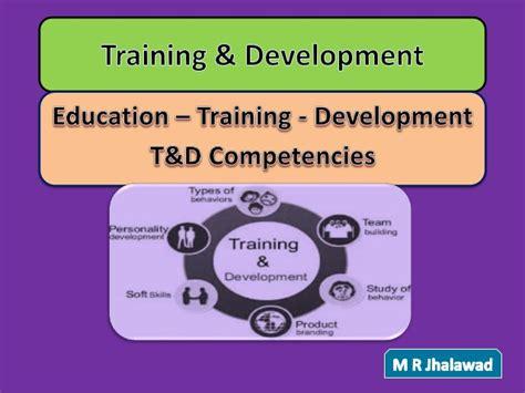 training development education training