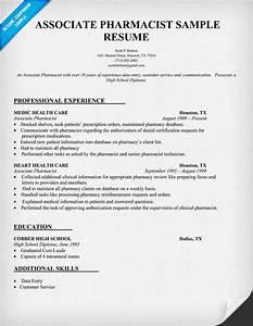 Resume Sample Associate Pharmacist resume panion
