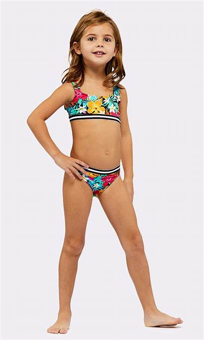 Cartoon Bayside Bikini Swimsuit Swimwear Child Pieces
