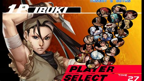 Street Fighter Iii 3rd Strike Character Select Youtube