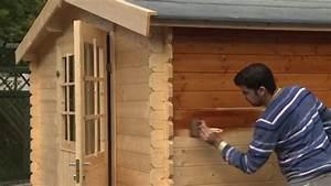 Furniertes Holz Streichen : gartenhaus streichen wolff finnhaus youtube ~ Lizthompson.info Haus und Dekorationen