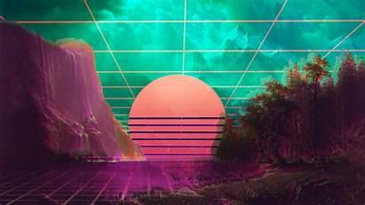 Vaporwave 4k Wallpapers Resolution Wave 1440p Background