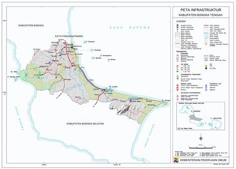 peta kota peta kabupaten bangka tengah