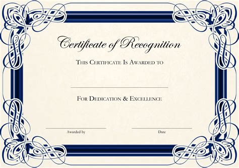 Free Certificate Templates For Word by Free Certificate Templates For Word