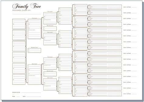 12 Generation Family Tree Template 8 Best Images Of Free Printable Family History Chart