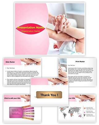 professional changing diaper editable powerpoint template