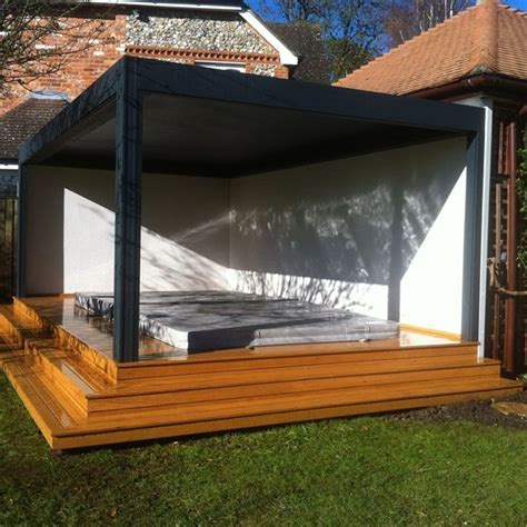 renson camargue louvered roof terrace cover hydropool swim spa roof