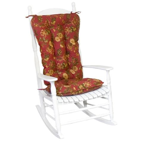rocking chair cushion sets jumbo greendale home fashions jumbo rocking chair cushion set www