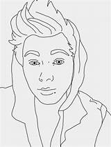 Coloring Celebrity Pages Drawings Luke Line 5sos Hemmings Sketch Designlooter Sam 1024px 73kb sketch template