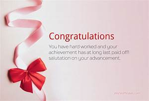 Congratulations Sms For Promotion Congratulations Wishes
