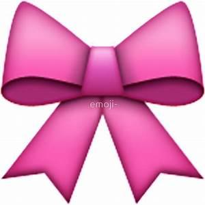 """Emoji Pink Bow"" Stickers by emoji- Redbubble"
