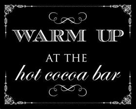 Hot Chocolate Bar Sign
