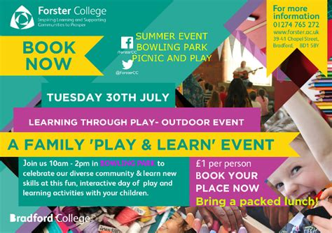 Outdoor Play and Learn Event in Bradford