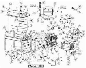 Powermate Formerly Coleman Pm0601100 Parts Diagram For Generator Parts