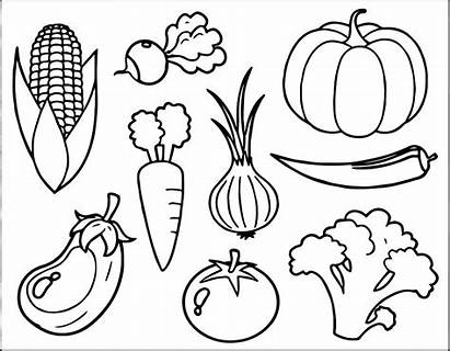 Fruits Colouring Drawing Coloring Pages Vegetables Veggies