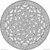 Coloring Pattern Detailed Circle Printable Getcolorings Rare sketch template